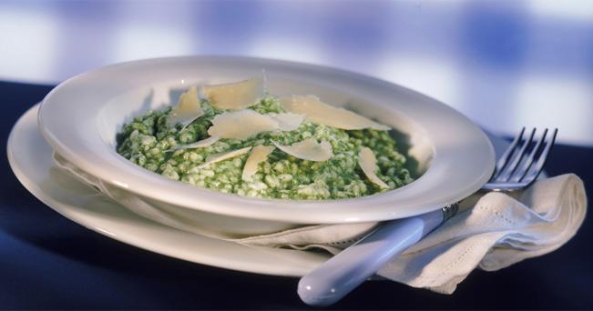 Risotto verde al Parmigiano Reggiano